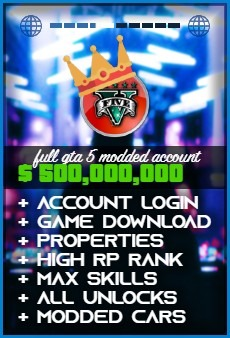 Product: GTA 5 $500000000 modded account